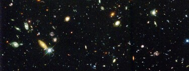 Photo taken by the Hubble Space Telescope before and after astronomical research