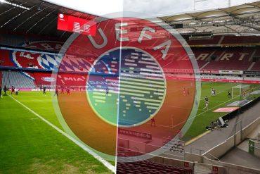 Statt München (links) könnte es vier EM-Spiele in Stuttgart geben. Die UEFA trifft zeitnah eine Entscheidung.