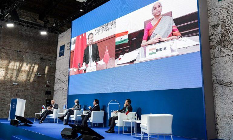 Ministros da Economia do G20 se reúnem em Veneza, Itália