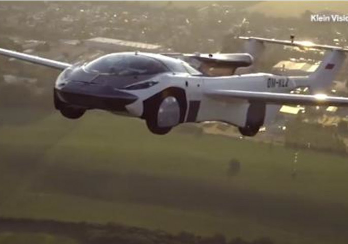 The first flying car took off, transformed, and then hit the road!  (Video)