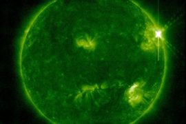 """The solar flare hits the earth and disrupts technology!  .. """"The strongest in 4 years""""!"""