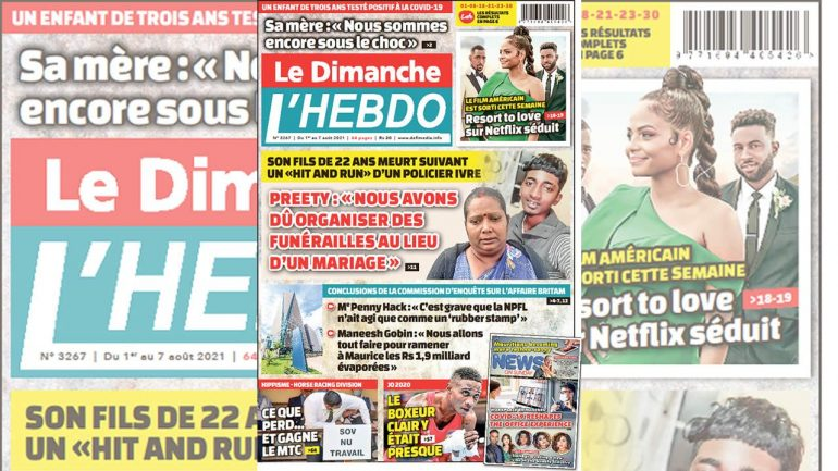 Here is one of Le Dimanche / El Hebdo's 0121 August 01 this Sunday