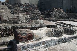Mexican archaeologists are forced to bury an unusual find in the ancient Aztec capital, Sociantafica.