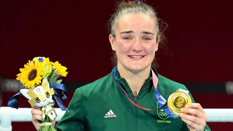 Kelly Harrington won the Olympic gold medal for Ireland, beating Beatrice Ferreira do Brazil, imitating Katie Taylor.