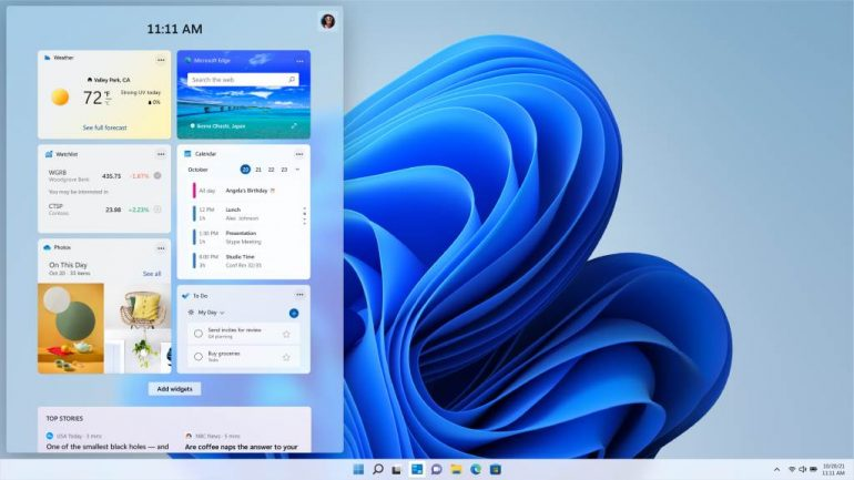 Windows 11 only: Updated favorite Microsoft applications calculator, email, calendar and clipping tool