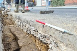 Hadrian's wall was found under a busy road in England - SoCientífica