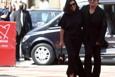 Bono appeared on the red carpet with his wife, Ali Hussain, at the Sarajevo Film Festival