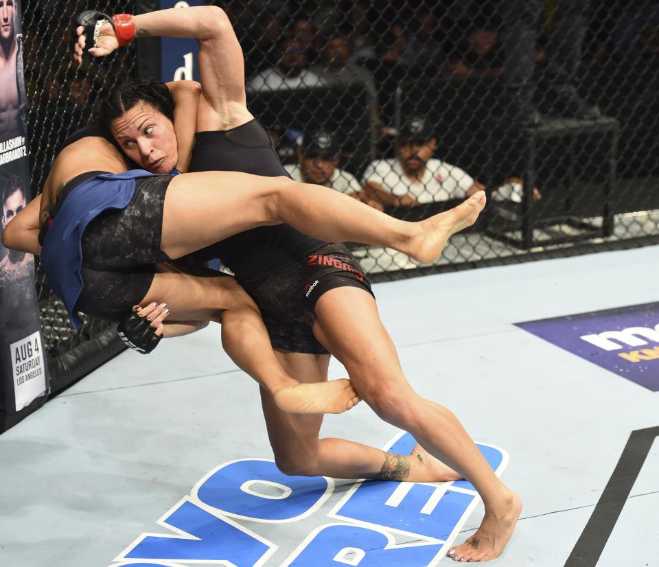 Cat Cinchona eliminates opponent in 2018 UFC Fight Night event