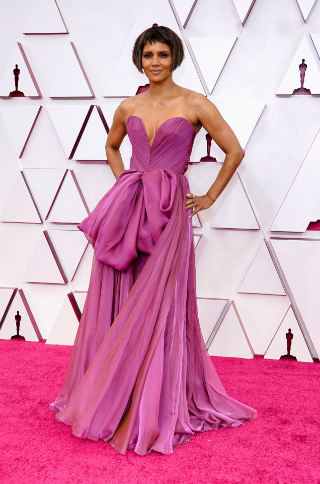 Halle Berry is seen on the red carpet in April 2021