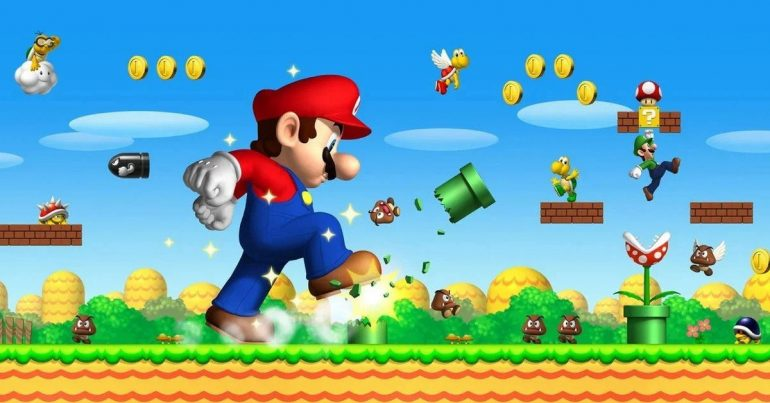 Super Mario is a game that came to light in the Soviet era.  Have you played it?     Sports House