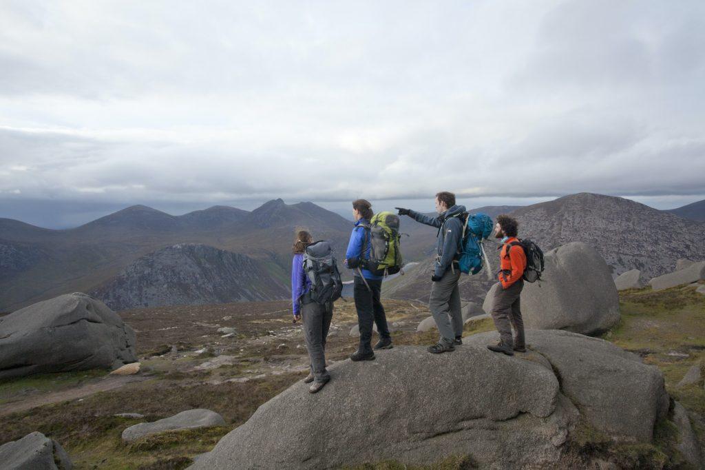 Sustainable Ireland: Trekking to the Morne Mountains.  Via Ireland Tourism.