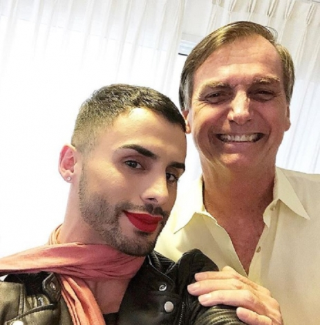 Augustine is an influential, make-up artist and supporter of President Jair Bolsonaro (non-party) (Photo: Instagram)