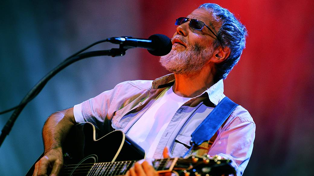 Youssef Islam, a British singer and songwriter, was known as Cat Stevens before converting to Islam at Credicard Hall in the south of Sao Paulo.