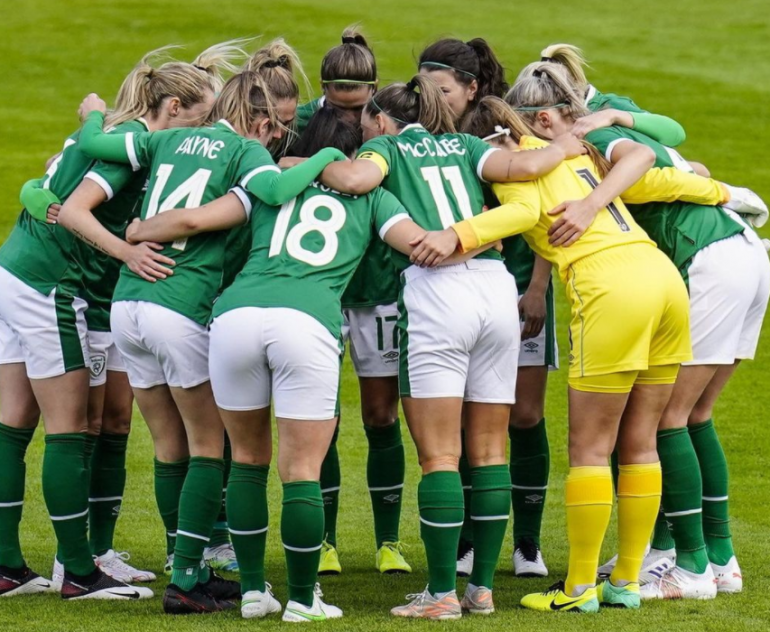 Ireland, a historic day for football.  National team players are paid the same as men