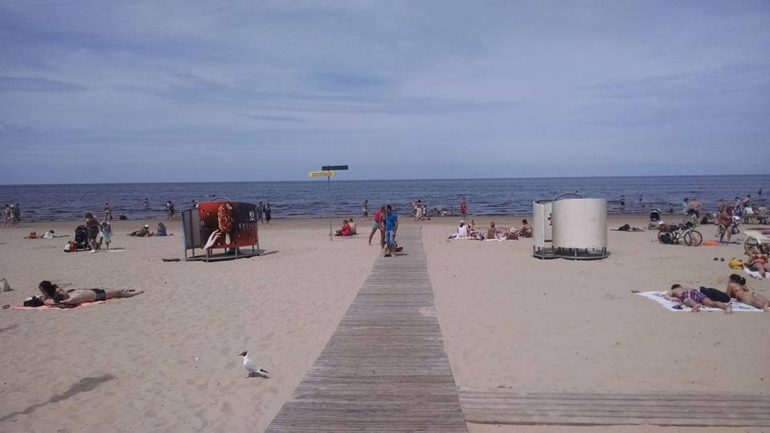 Latvia has a beach: Latvians play volleyball Soviet dictators visit the Baltic Sea city of Jurmala on vacation |  The world