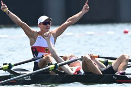 Rowing at the Olympics: Germany wins silver-athletic victory