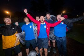 Scottish fans celebrate Euro 2020, Italy's victory over England - Video