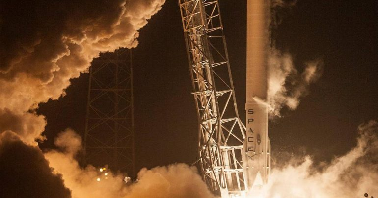 SpaceX launches Dragon Capsule with supplies for ISS  The Falcon 9 landed on the ship