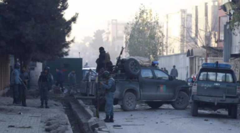 Taliban checkpoint on the way to Kabul airport