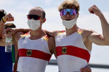 The German pair won their first rowing medal in Tokyo