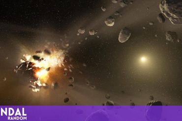 Two red objects found in an asteroid belt explain the origin of life
