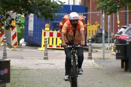 Video This former Afghan minister is now a bicycle delivery man in Germany
