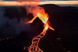 Volcanic eruptions may produce oxygen in the atmosphere