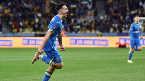 Great fun: Mykola Shaparenko 1-0 for Ukraine