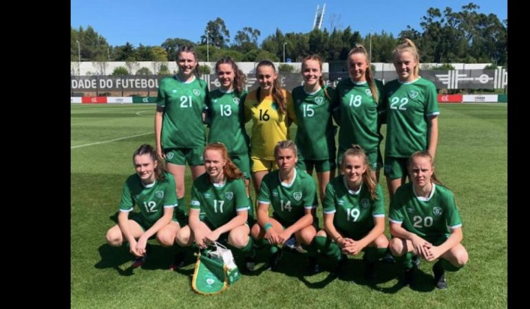 Melissa O'Connor of Losford leads Ireland to an international friendly victory in Lisbon against the Republic of Portugal -