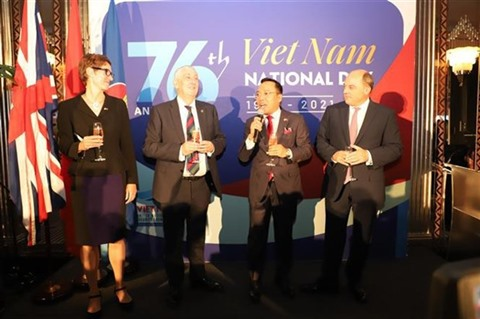 The United Kingdom celebrates the 76th anniversary of Vietnam's National Day