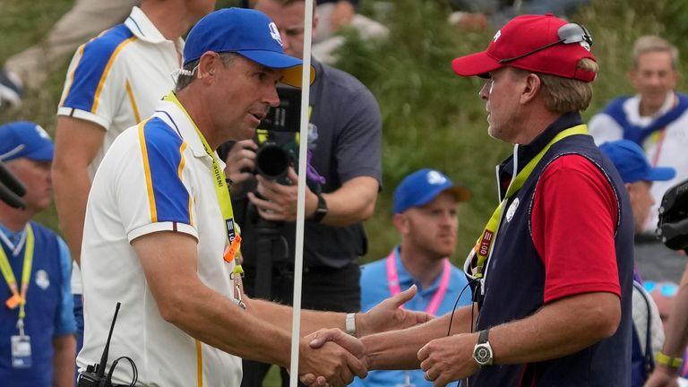 Padreig Harrington praised Steve Stricker for his good work