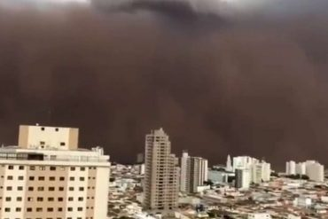 How the cloud of 'swallowed' dust formed inside Sao Paulo