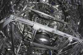 La cuve de xénon liquide du laboratoire souterrain de Gran Sasso
