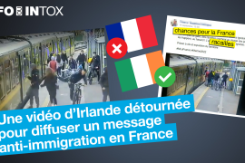 A video from Ireland was hijacked to spread the anti-immigrant message in France