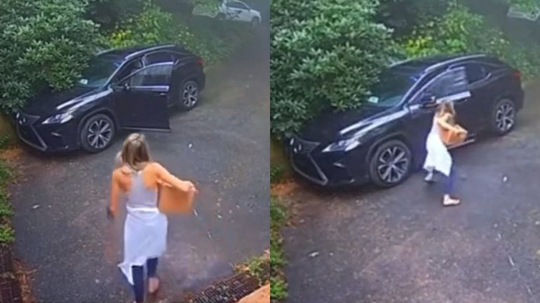 """A woman finds an unusual """"surprise"""" inside the car, great fear and the video of the moment goes viral;  Watch out!"""