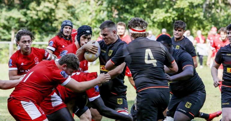 International match in Kaisersloton - Rugby Advertising - Rugby