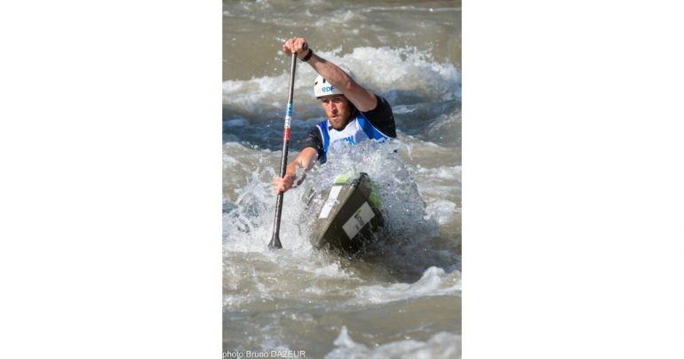 Kayak - Descent.  Quintin Dassour of Strasbourg is the doubles vice world champion