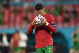 One ball - Ronaldo scores 110th goal against a team he has never scored (Celico)