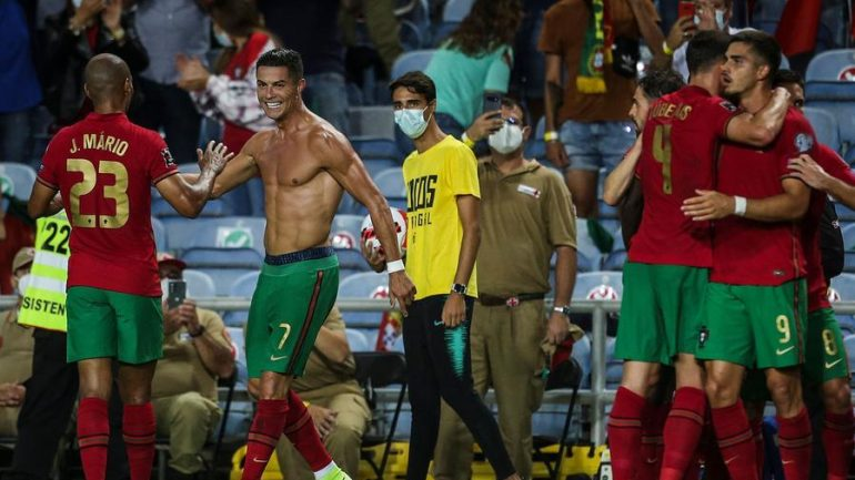 Ronaldo became the all-time leading scorer, beating Ireland in seven minutes