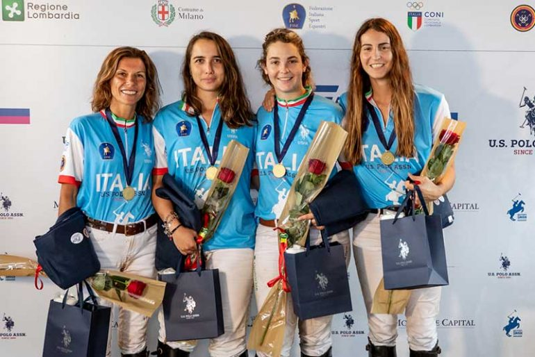 Women's polo shirt, Europe's Italian champion!  Defeat England in the final - OA Sport