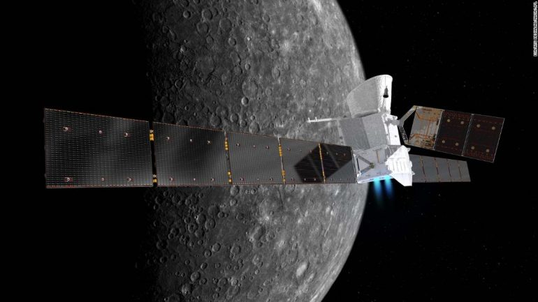 The BeppeColombo mission flies near Mercury for the first time