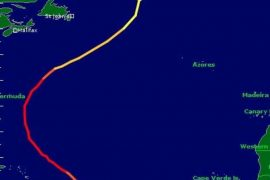 Hurricane Sam is the longest in the 2021 Atlantic season