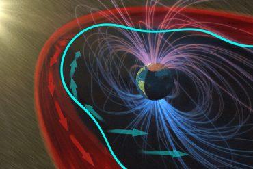 Descubren qué sucede cuando el viento solar golpea la 'burbuja' magnética de la Tierra