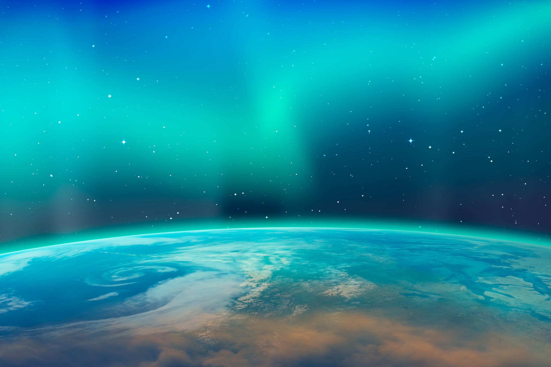 Aurora Borealis North Lights.  Image components provided by NASA.  Image_Mura T, Shutterstock