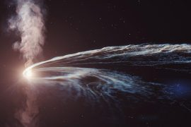 """2019 Black hole ripping stars and emitting radio waves, the source of the """"ghost particles"""" can not be found 