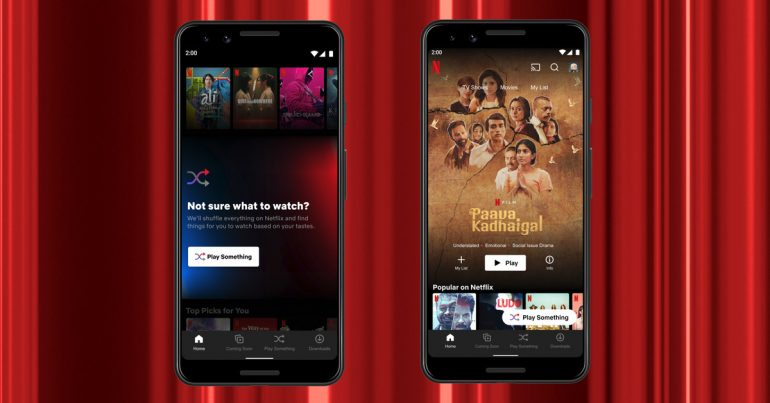"""Netflix launches """"Play Something"""" for Android users"""