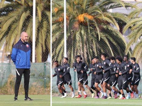 Qatar prepares to play Portugal