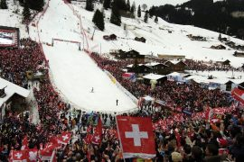 The crowd was allowed to return to Swiss ski racing