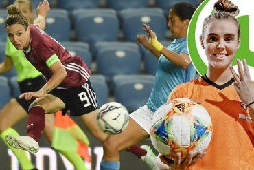 Erfolgreich: Jill Roord (r.) erzielte beim 8:0 gegen Zypern drei Treffer, Svenja Huth traf zum Sieg gegen Israel.