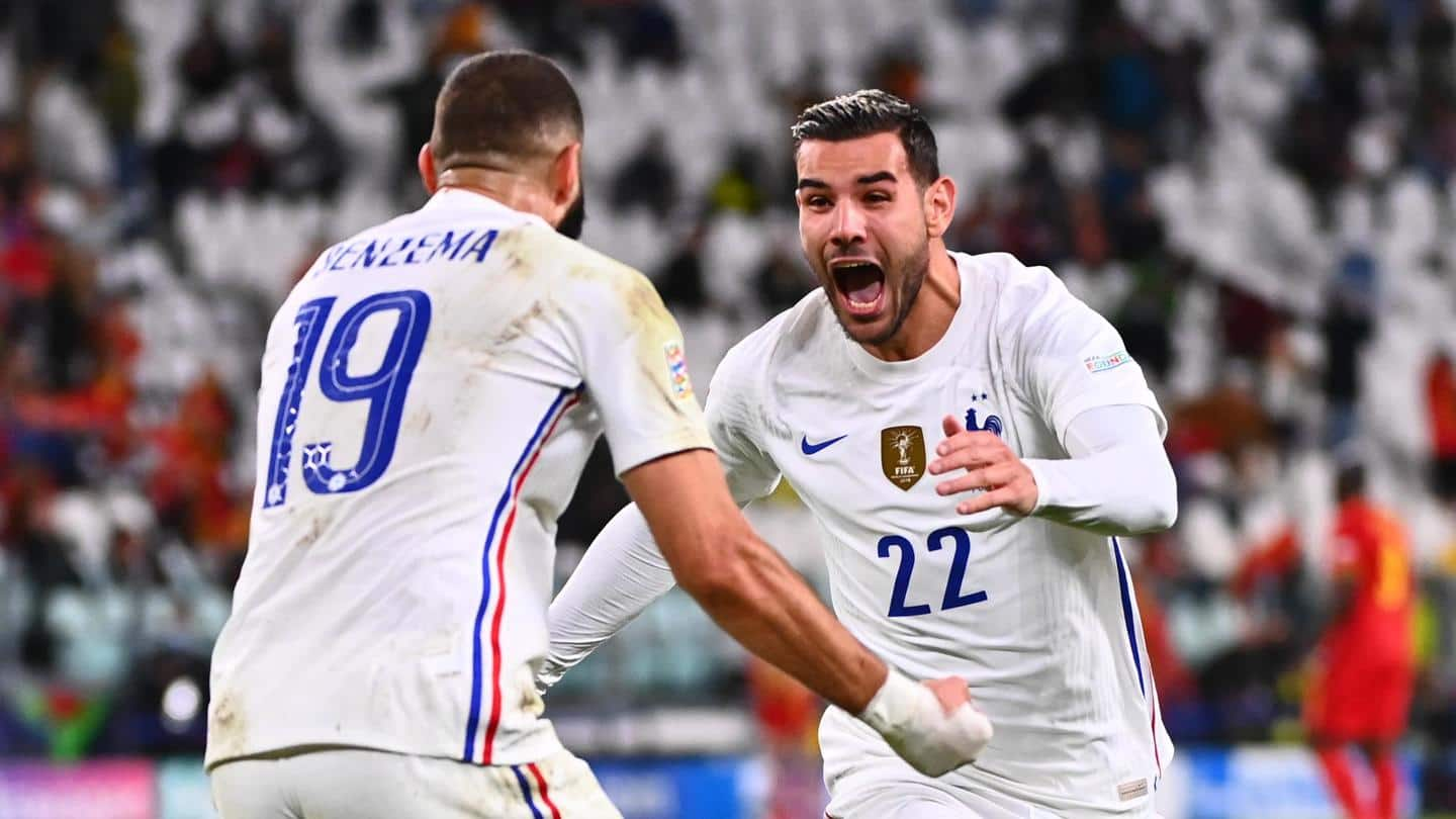 Benzema shone with France and Hernandez scored his first international goal